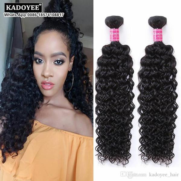 Peruvian Virgin Hair Jerry Curl Deep Wave Curly Hair 1 Bundles Peruvian Curly 8A Afro Kinky Curly Weave Human Hair Free Shipping US UK