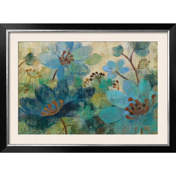 Decorating paintings Silvia Vassileva Peacock Garden modern flower art for wall decor hand-painted