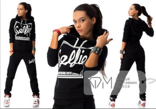 2018 Brand New Trainingsanzug für Frauen Sweatshirt und Jogger Sets Plus Size Herbst Wintermantel svitshot Hoodie Frauen Sport Anzüge # 8887