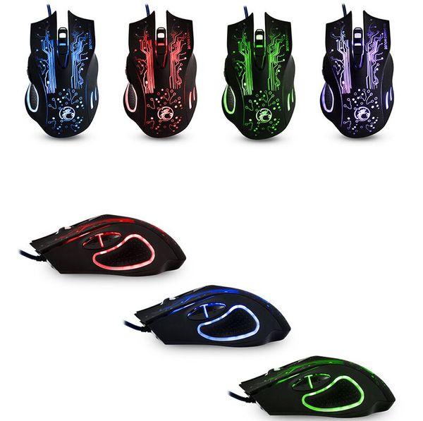 ESTONE X9 Dragón de Alta Calidad 5500 ppp Luces de Colores Ópticas Cableadas Juego Juego Ratones Ratón para PC Portátil