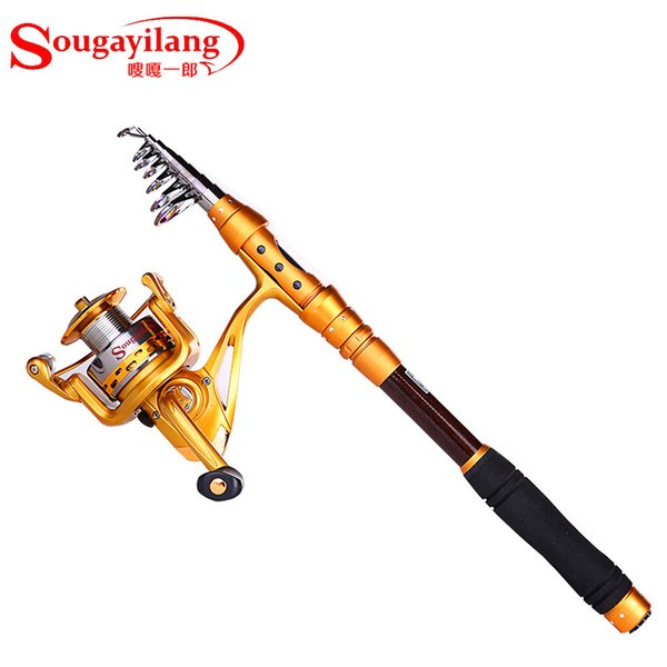 best selling 2016 New Carbon Road sub Sea Fishing 2.7M fishing rod + AF4000 Spinning Wheel Fishing Tackle Set