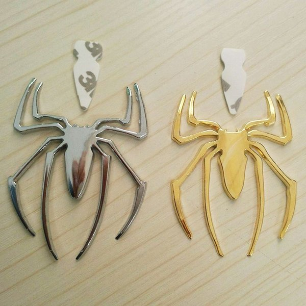 Wholesale Lovely Decorative Car Styling Spider Shape 3D Metal Car Motor Decal Sticker New Exterior Accessories Metal Foil Cover for Cars