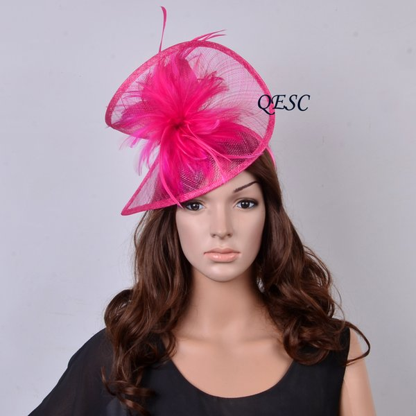 19 colors,BIG Hot pink two sides fascinator Sinamay hat wedding accessories fedora in SPECIAL shape for Kentucky Derby,church