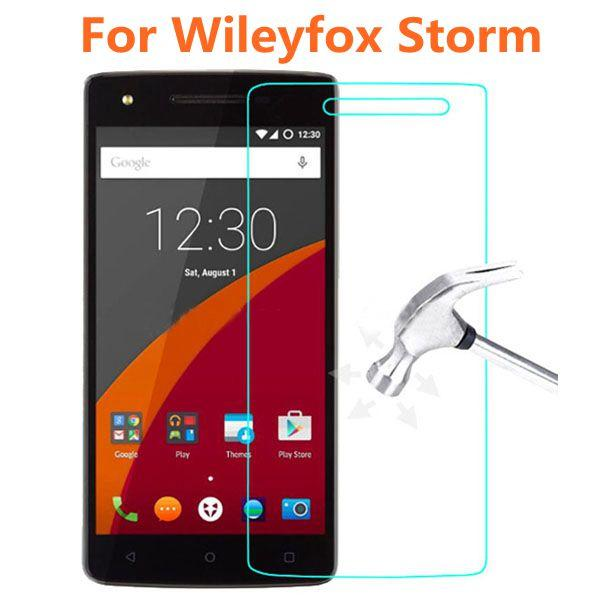 """Wholesale- Wileyfox Storm Tempered Glass 9H High Quality Protective Film Explosion-proof Screen Protector for Wileyfox Storm 5.5"""""""