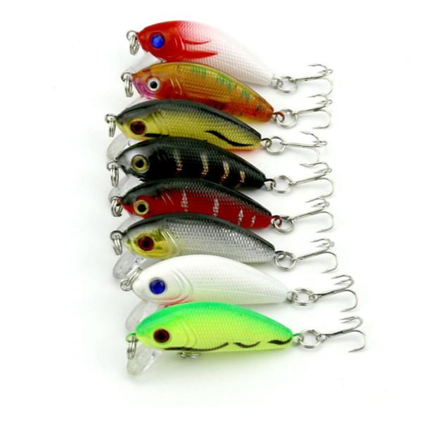 8PCS Topwater Minnow Fishing Lure 6.8cm 4.8g Lifelike Hard Bait Mini Crankbait Plastic Lure for Carp Fishing