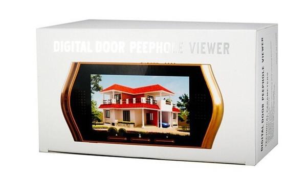 New wireless door peephole camera video-eye IR Night vision 3X Zoom PIR Motion Detection 32 Rings Video Record+Taking Photos