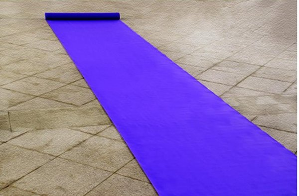 20 Meters/roll Wedding Favors Purple Nonwoven Fabric Carpet Aisle Runner For Wedding Party Decoration Supplies Shooting Prop