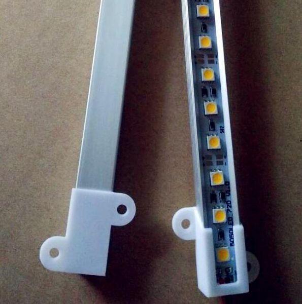 U V Şekli 5050 0.5 m LED Bar 12 V Sert Sert Şerit Bar Işık 36 leds + Alüminyum Alaşım Kabuk Konut