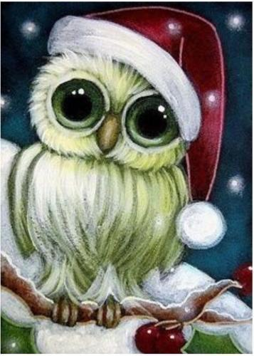 Christmas Owl.2019 Cute Christmas Owl Pure Hand Painted Animal Art Oil Painting On High Quality Canvas Customized Size Accepted Springgalle From Myartworld 8 24