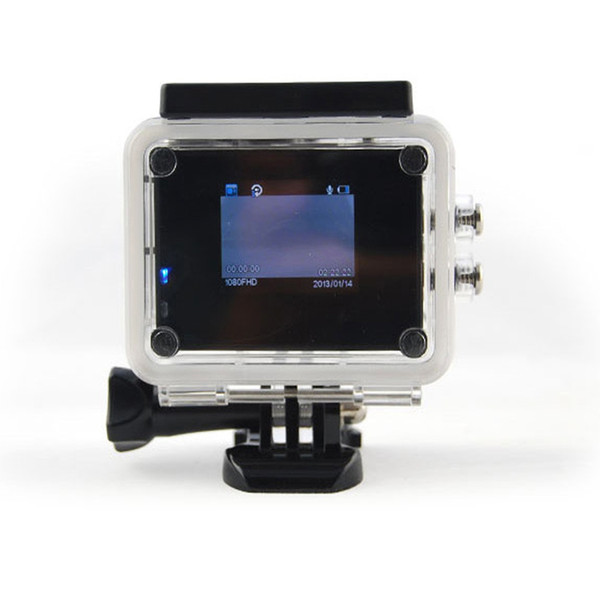 Action camera 720P 120° wide-angle fish-eye lens outdoor sports, mini waterproof aerial camera, digital camera comes with 2 inch LCD display