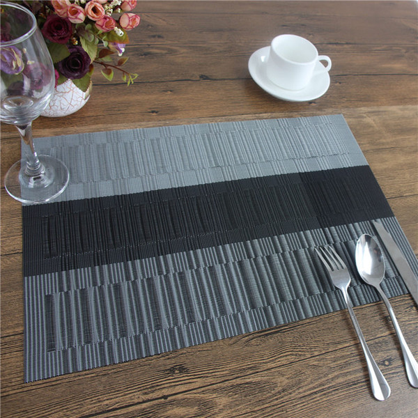 Wholesale- PVC Polyester European Style Heat Insulation Placemat Dining Table Runner Place Mat Kitchen Accessories Cup Wine Mat Coaster