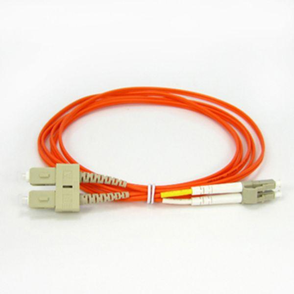 SC-LC 2.0mm Multi Mode Duplex Optical Fiber Patch Cord PVC - 1M/3M/5M/10M/15M/20M