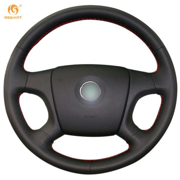 MEWANT Cubierta de volante de automóvil de cuero artificial negro para Old Skoda Octavia 2005-2009 Fabia 2005-2010