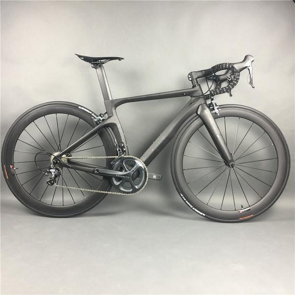Komple Karbon Fiber Yol Bisikleti Yarış Bisiklet, T800 Karbono Fiber Çerçeve, R36 Karbon Tekerlekler, SHiMANO 3500/4700/5800 / R8000 / 9100