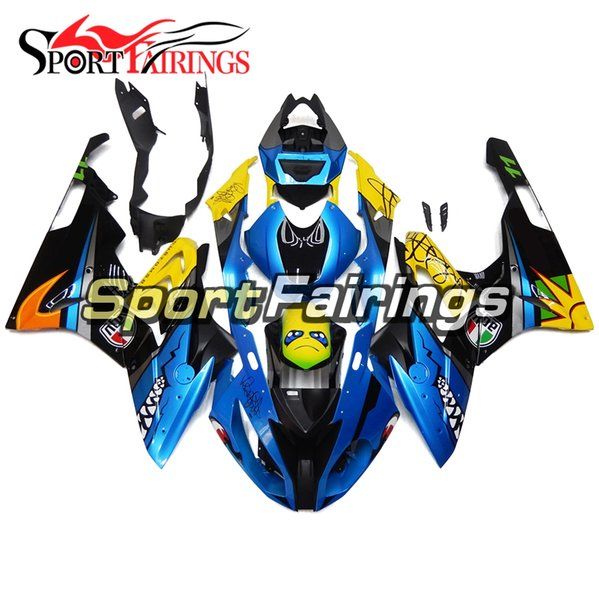Injection Fairings For BMW S1000RR2015-2016 15-16 Plastics ABS Fairings Motorcycle Fairing Kit Bodywork Blue Yellow Cowlings