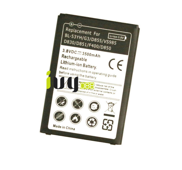 top popular 3500mAh BL-53YH Replacement Battery For LG G3 D855 F400 F460 D830 VS985 D850 D851 D855 D858 D859 LS990 Batteries Batteria 2019