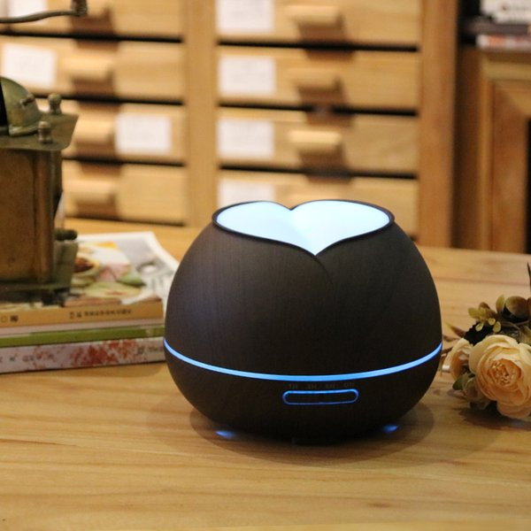 400ml Air Humidifier Ultrasonic Aroma Essential Oil Diffuser LED Aroma Diffuser Lamp Aromatherapy Large Capacity Wood Grain