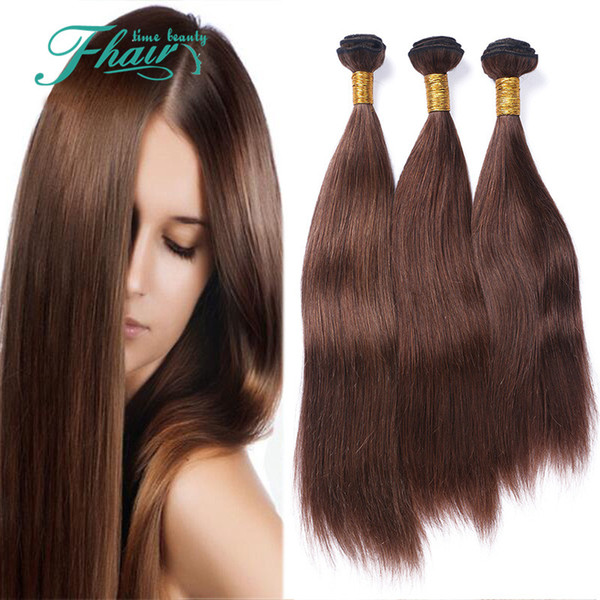 "Cheap Products 9A Malaysian Straight Human Hair #4 Chocolate Virgin Hair Weave Bundles 3Pcs Lot 10""-30""Inch Length Hair"