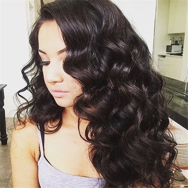 Unprocessed Brazilian Human Hair Silk Top Full Lace Wigs Body Wave Glueless Silk Base Lace Front Wigs With Baby Hair For Black Women