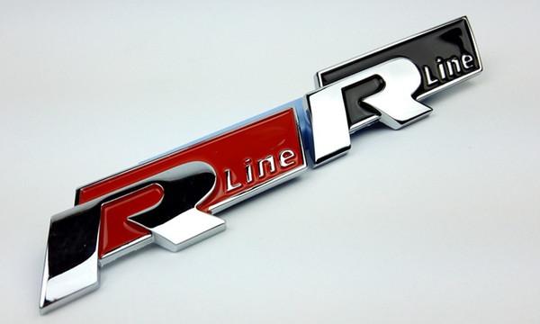 10 pz / lotto Alta qualità R linea Emblema distintivo Per VW Volkswagen Golf 6 Magotan nuovo Jetta 3D Metallo Auto Decalcomanie Adesivi adesivi Bumper