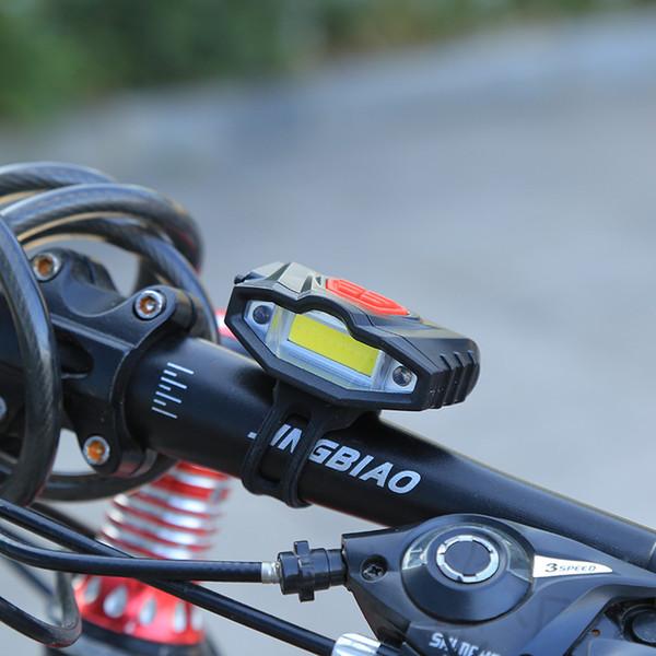 Al por mayor- 2017 Luz delantera de la bicicleta de alta potencia impermeable USB recargable luz de la bici Advertencia de seguridad LED manillar Ciclismo Bycicle luz