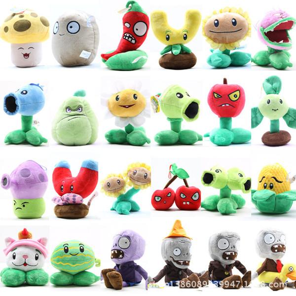 20PCS Plants vs Zombies PVZ Figures 17cm High Plants PVC Action Figures Collection Toys Gifts