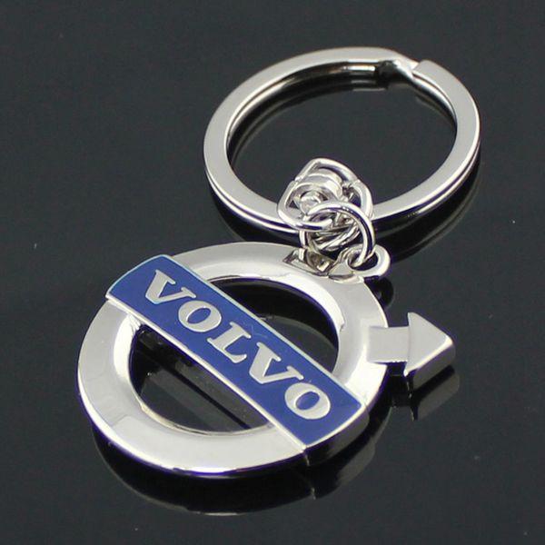 5 adet / grup Yeni volvo xc60 / 90 / s40 / 60/80 Moda Kesme amblemi anahtarlık oto malzemeleri araba Volvo anahtarlık anahtar kolye yüzük otomobil mavi logo