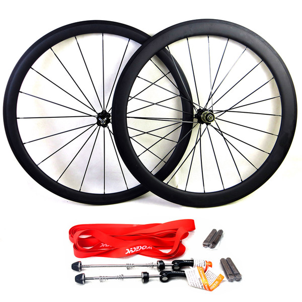Carbon road bike wheels front wheel 38mm and rear wheel 50mm clincher tubular bicycle wheelset basalt brake surface 700c clear coat 3K matte