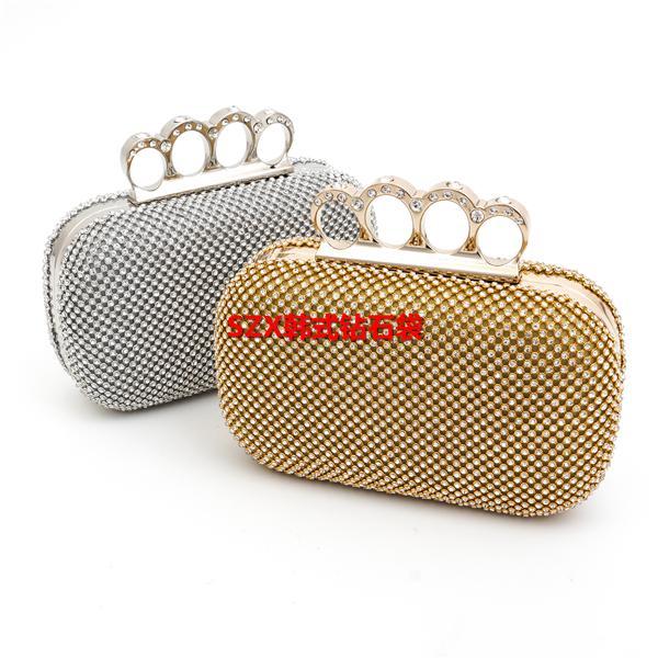 7964433898 Day clutch women bag rhinestone finger ring luxury evening bags pearl  wedding evening bag diamond handmade