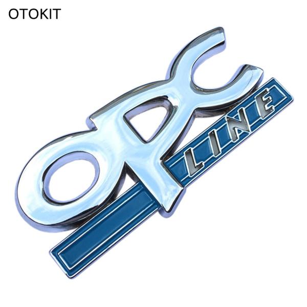 Großhandel 3d Metall Opc Line Emblem Auto Seite Schwanz Abzeichen Aufkleber Für Opel Zafira B Corsa D Insignia Mokka Regal Astra G H Vectra C Von