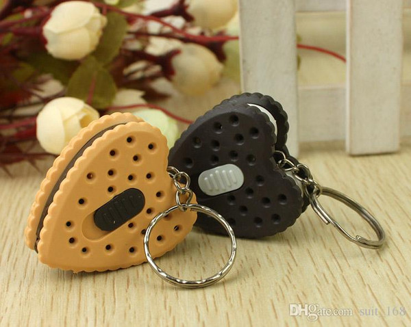 free shipping whilesaleNight market supply Yiwu Small Commodity pendant square smiley keychain with light biscuit stall Cheap cartoon