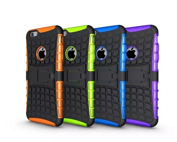 Custodia Hybrid Kickstand per Iphone 5 5S 4G 6 6S Plus Ipod touch 5 5th Samsung Galaxy S3 S4 S5 S6 Edge Plus S7 OnePlus 3 ShockProof Rugged Skin