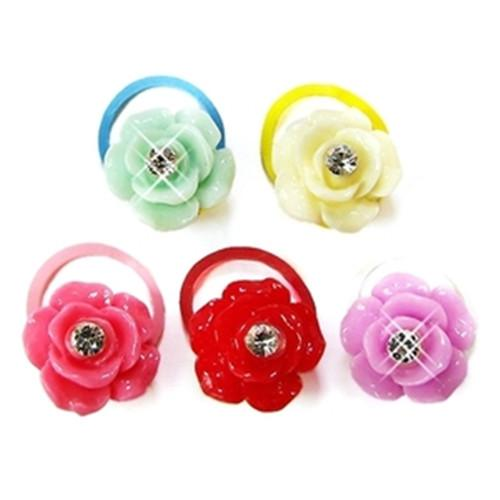 Korean fashion mini candy color pet hair accessories Lovely pet head flower Cat dog ultra small rubber band hairpin