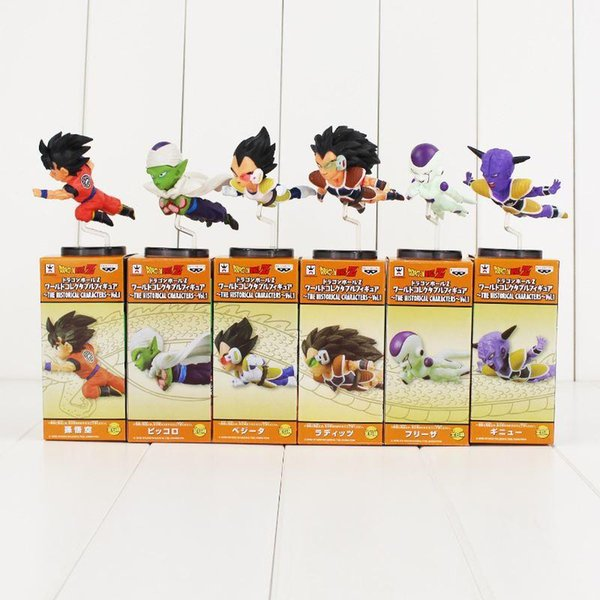 6pcs/set Dragon ball 30th flight Super Saiyan Raditz Vegeta Son Goku Frieza Piccolo action figure toy