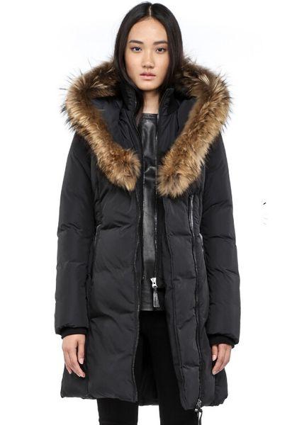 Women's Down jacket WINTER MAC-KAYf-F4-A508 Down & Parkas Brand Real Raccoon Fur Collar White Duck Outerwear & Coats WITH FUR HOOD