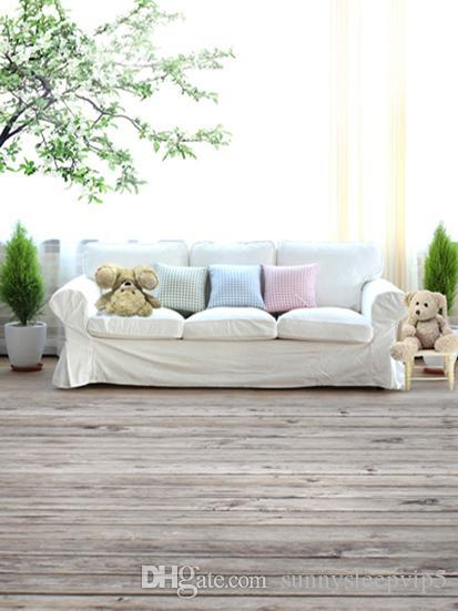 Brilliant Wooden Floor White Couch 5X7Ft Camera Fotografica Children Baby Photography Backdrops Vinyl Background For Photo Studio Mexican Wedding Decorations Dailytribune Chair Design For Home Dailytribuneorg