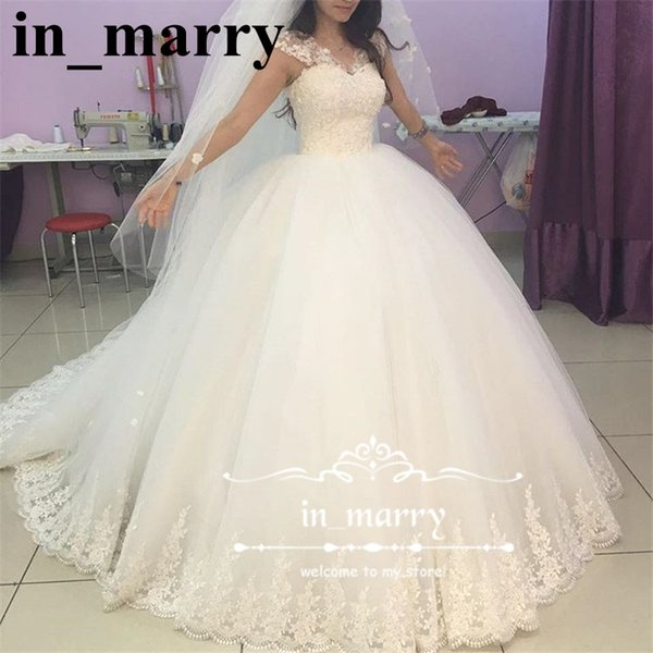Princess Ball Gown Lace Wedding Dress