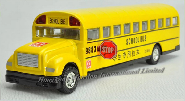 1:32 Scale Alloy Diecast Metal School Bus Car Model For BLUE BIRD Collection Model Pull Back Toys With Sound&Light - Style 2