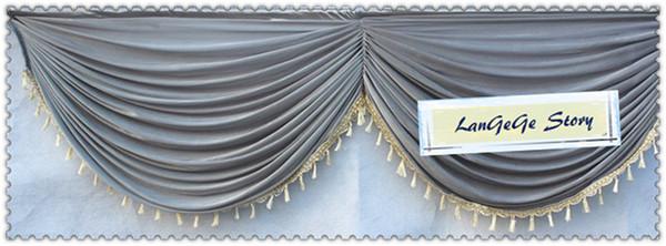 Turchese / Siver / Verde / Colorato / Party e banchetto Decorazioni utilizzate per la sfilata di nozze / tavolo o scale dell'hotel / 10m di lunghezza