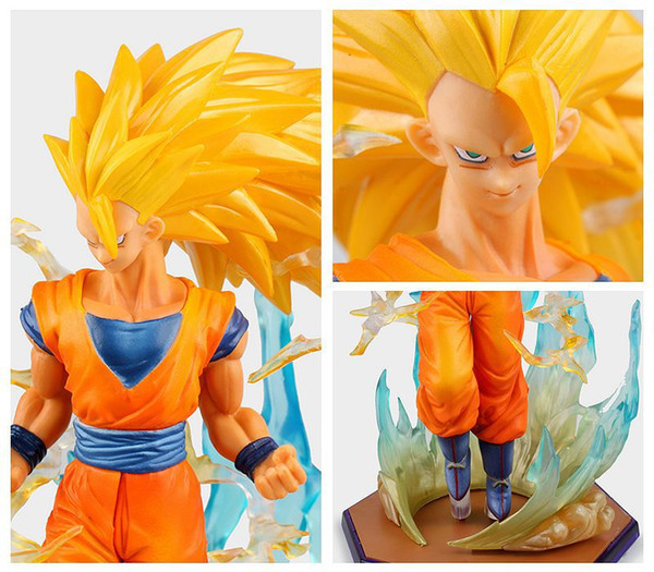 Dragon Ball Z Action Figure Figuarts Zero. Super Saiyan 3 Son Goku DBZ Model Toys Anime Dragonball 18cm PVC Toy spedizione gratuita