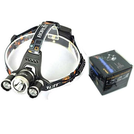 Free DHL, 5000 Lumen T6+2R5 Boruit Head Light Headlamp Outdoor Light Head Lamp HeadLight Rechargeable by 2x 18650 Battery Fishing Camping