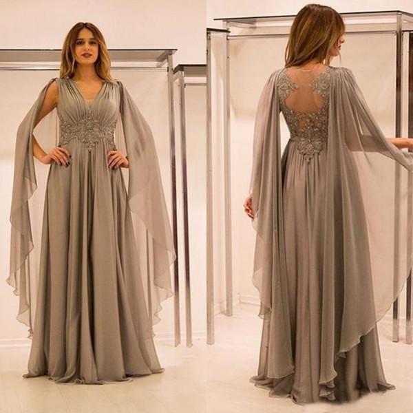 Großhandel Arabisch Chiffon Silber Prom Kleider 2017 ...