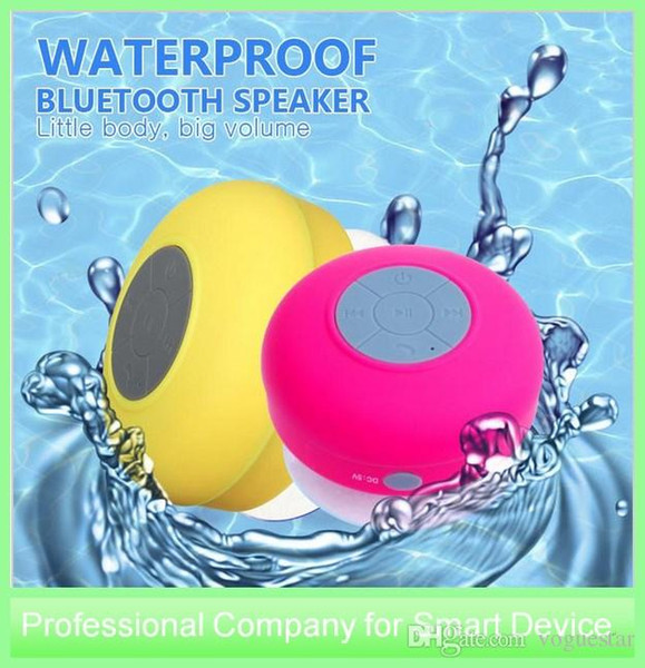 Portable Mini Waterproof Wireless Bluetooth Speaker Shower Hands-free Suction Cup In-car Built-in Microphone for iPhone Samsung FOB
