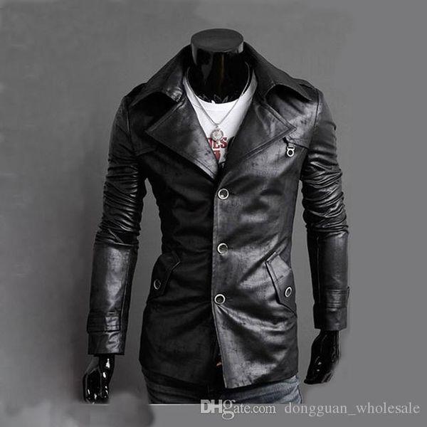 Großhandel Lokomotive PU Jacke Herren Marke Kleidung Herren € Leder Outwear Retro Veste Homme Mantel Chaqueta England Fashion Slim Jacke XXL Von