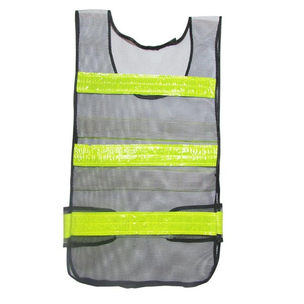 Classic Style Mesh Cloth Yellow reflective Reflective Vest Warning Reflective Safety Vest Black Work Wear Uniforms Clothing