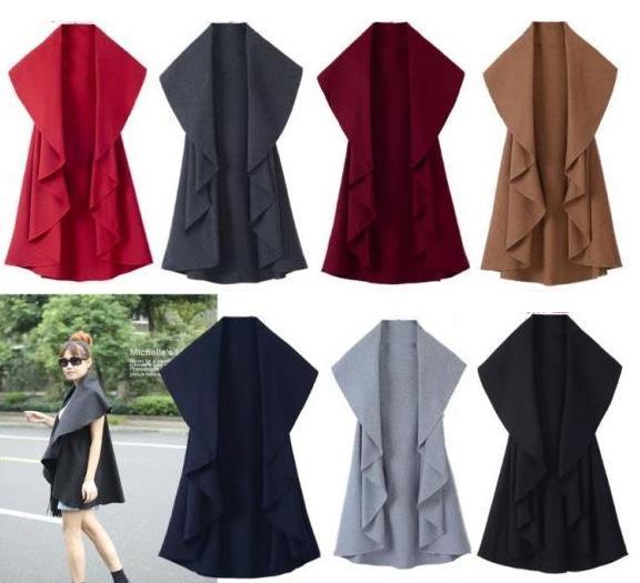Free Shipping/Hot Sale Women's Fashion Wool Coat, Ladies' Noble Elegant Cape/Shawl. ladies poncho wrap scarves coat 2017