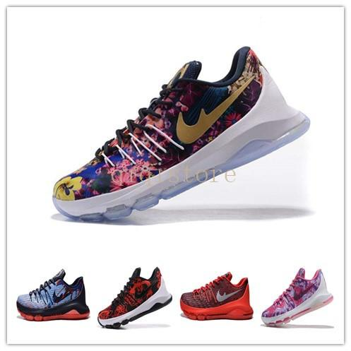 competitive price cb43b 86c06 KD 8 N7 Basketball Shoes kevin durant Aunt Pearl Flower trainers KD VIII  XMAS Athletic shoes