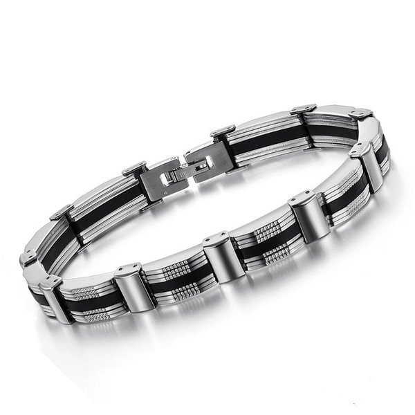 New Coolest Men Fashion Stainless Steel Bracelets Personality Simple Style Titanium Bracelet High Quality Free Shipping