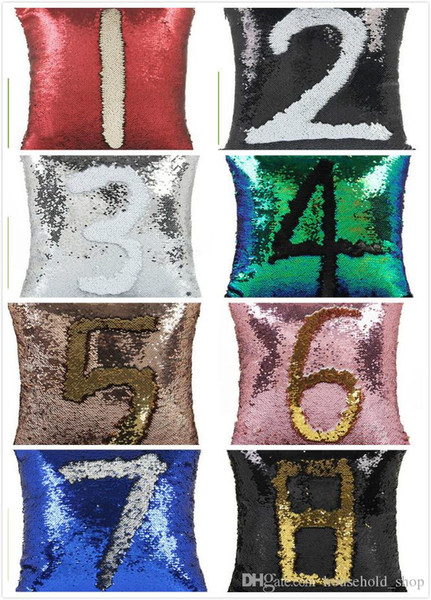 best selling Sequin PillowCase Sequins Cushions Cover Reversible Pillow Covers Sofa Car Cushion for Office Home Decoration Free Shipping