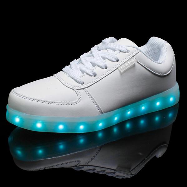.7 Colors LED luminous shoes unisex sneakers men & women sneakers USB charging light shoes colorful glowing leisure flat shoes black colors
